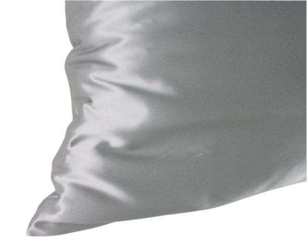 silver infused silk pillowcase